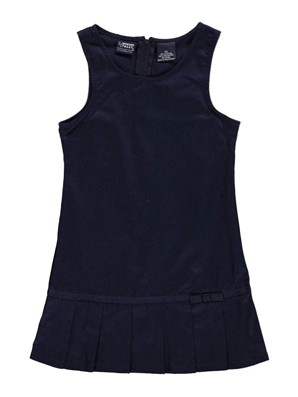 Navy French Toast Big Girls Pleat Bow Jumper 8