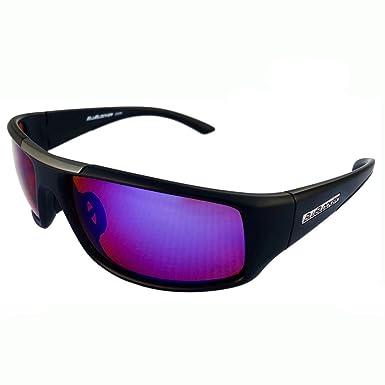 f616671d9d7 Amazon.com  BluBlocker Black Nylon Sport Polarized with Blue Mirror Lens -  4204K  Clothing