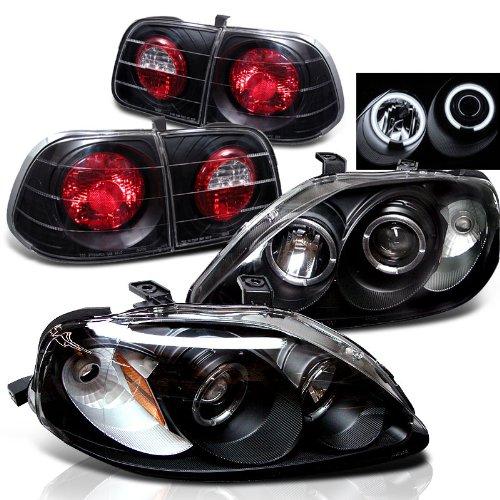 Civic 4d Projector Headlights - 7