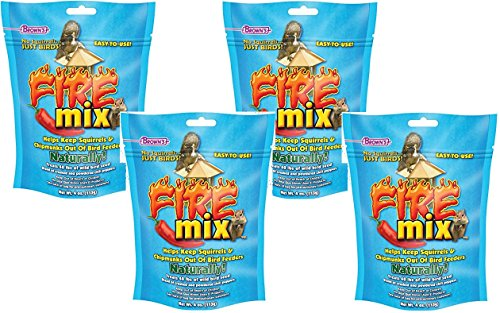 (Pack of 4) F.M. Brown's No Squirrels Just Birds! Fire Mix