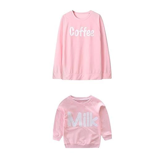 LUCKDE Partnerlook Mutter Kinder, Matching Outfits Mother Kids Baby Kleidung Oberteile Frauen Kinder und Mutter Kleidung Fami