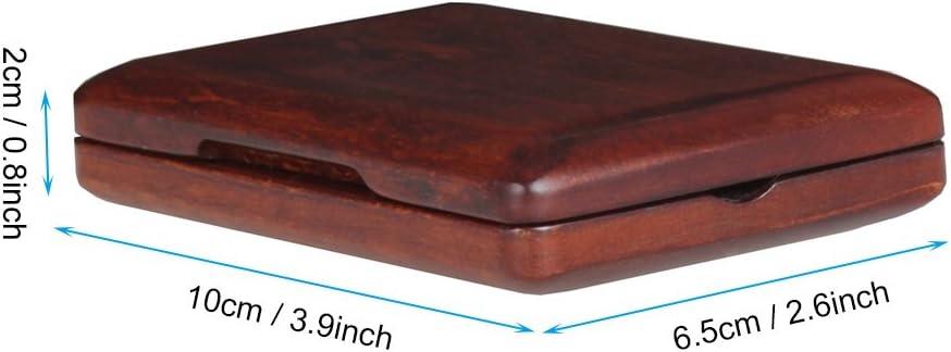 Caja de Madera Port/átil del Titular de L/ámina de Nogal Negro para 2Pcs Ca/ñas de Clarinete Saxo Dilwe Caso Reed