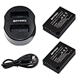 Batmax LP-E17 Battery(2-Pack) and Compact USB Dual Charger for Canon LP-E17, LP E17, LPE17 and Canon EOS M3 750D 760D Rebel T6i T6s 800D 8000D Kiss X8i Digital Cameras
