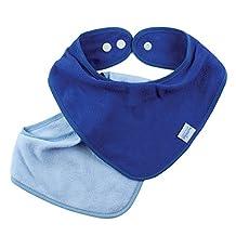 Bumkins 2 Count Absorbent Cotton Bandana Bib, Blue