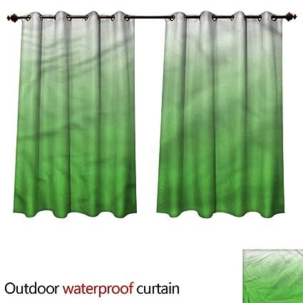 Amazon.com: cobeDecor Ombre Home Patio Outdoor Curtain Vivid ...