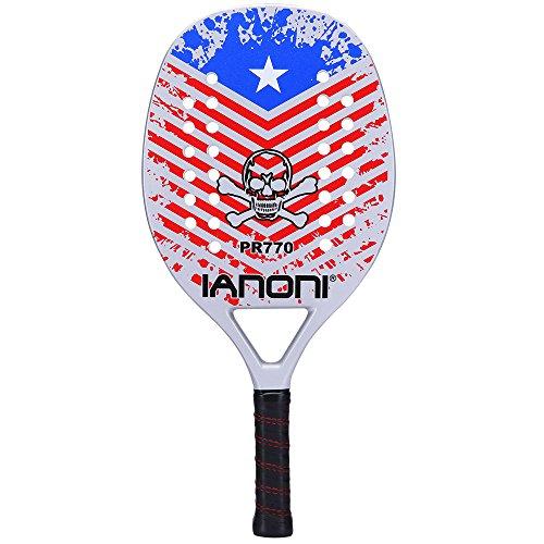 Fiber Carbon Memory (ianoni Beach Tennis Racket,Carbon Fiber Grit Face with EVA Memory Foam Core Beach Tennis Racket (PR770))