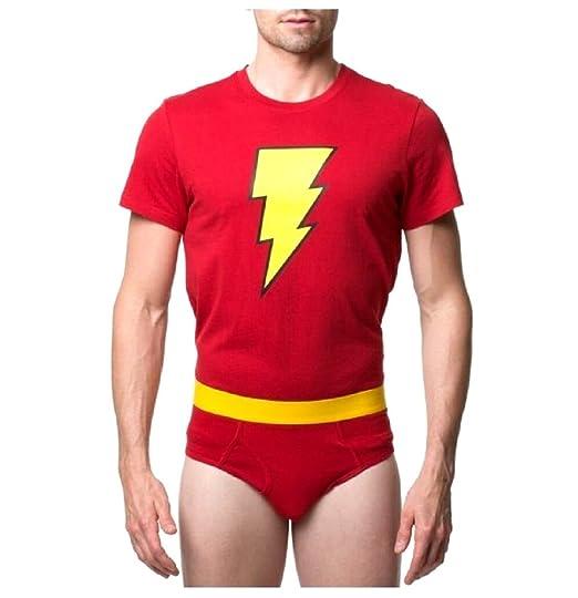 2ab26231ba1 Amazon.com  Shazam! Mens Underoos T-Shirt   Briefs Set  Clothing