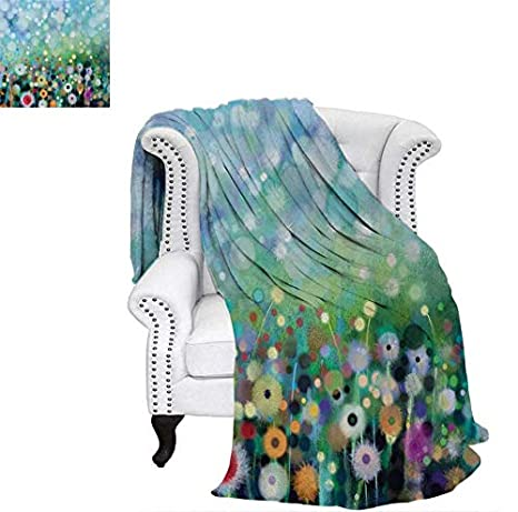 Amazon.com: Digital Printing Blanket Dandelion Seeds in Air ...