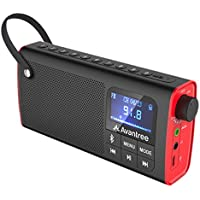 Avantree 3-in-1 Portable FM Radio with Bluetooth Speaker and SD Card Player, Auto Scan & Save, LED display, Rechargeable Battery - SP850