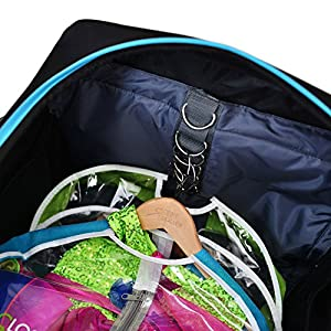 Closet Trolley Dance Bag with Garment Rack - BLUE DANCE DUFFEL