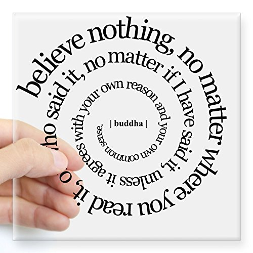CafePress Buddha Quote Rectangle Sticker Square Bumper Sticker Car Decal, 3