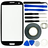 Samsung Galaxy S3 Screen Replacement Kit including 1 Replacement Screen for Samsung Galaxy S3 9300 / 1 Pair of Tweezers / 1 Roll of Adhesive Tape / 1 Tool Kit / 1 ECO-FUSED Microfiber Cleaning Cloth (Black)