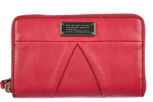 Marc by Marc Jacobs women's wallet leather coin case holder purse card bifold raspberries fucsia by Marc by Marc Jacobs