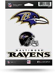 NFL Baltimore Ravens Die Cut 3-Piece Triple Spirit Sticker Sheet