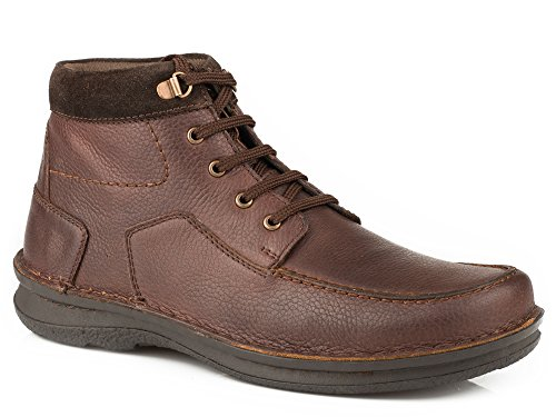 Roper Mens Trevor Lace-Up Brown Casual Shoes Brown Leather LOZkM4W