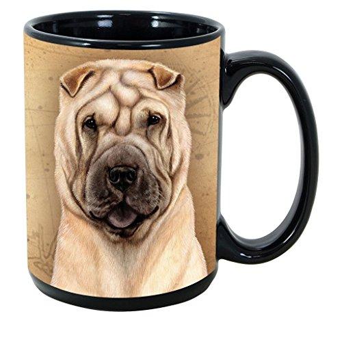 Imprints Plus Dog Breeds (R-Z) Shar Pei Tan 15-oz Coffee Mug Bundle with Non-Negotiable K-Nine Cash (shar pei tan 158)