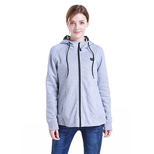 CLIMIX Women Slim Fit Heated Hoodie Jacket Kit with Battery Pack (M) by CLIMIX (Image #1)