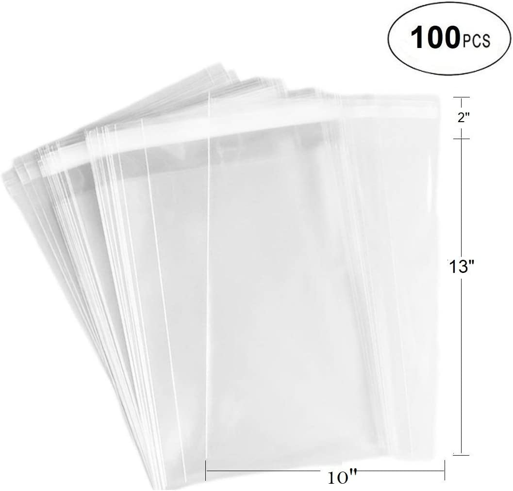 Quality 10 X 8 Cello Greeting Cellophane Card Bags Self Seal 211mm x 254mm 200