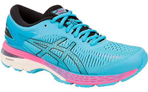 Gel-Kayano 25 Women's Running Shoe, Aquarium/Black, 11.5 B(M) US