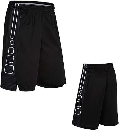 BAACD Pantalones Cortos de Baloncesto para Hombre con Bolsillos Zip Pack Largos para niños, Pantalones Cortos de Entrenamiento Deportivo para Correr Wade para Hombre Casual Negro: Amazon.es: Ropa y accesorios