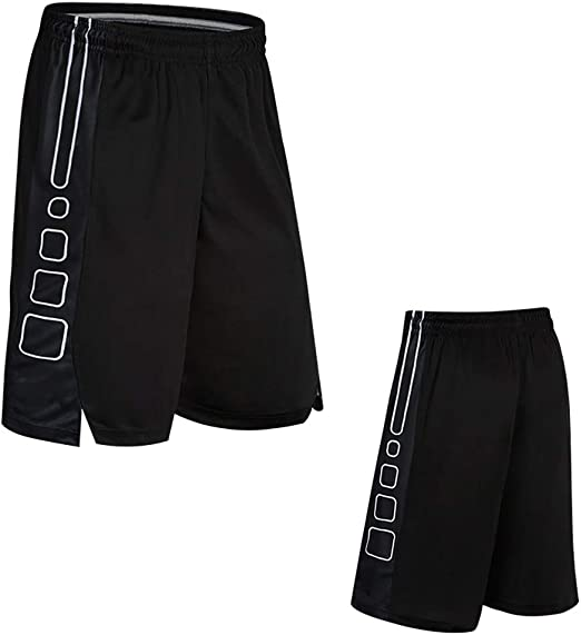 Pantaloncini da Allenamento per Sport Fitness Wade Pantaloncini Larghi da Uomo Neri BAACD Shorts da Basket per Uomo con Tasche Pantaloncini con Zip Pack Lunghi per Ragazzi