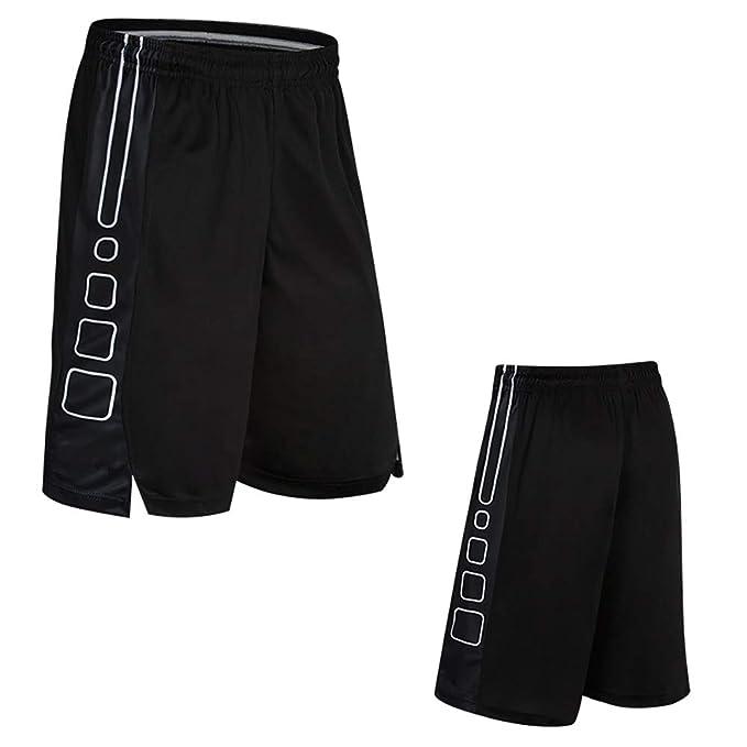 BAACD Pantalones Cortos de Baloncesto para Hombre con Bolsillos ...