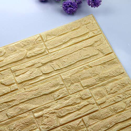 ManxiVoo 3D Brick Wall Stickers PE Foam Wallpaper