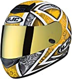 HJC HJ-20 Pinlock Ready RST Shield RPS-10 Sports Bike Racing Motorcycle Helmet Accessories - Gold / One Size Fits Most