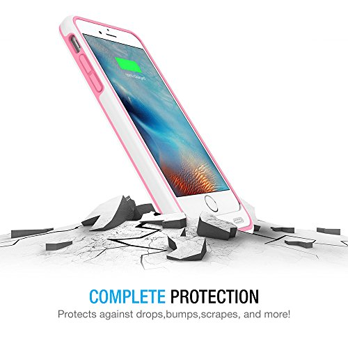 iPhone 6/iPhone 6S Battery Case, Maxboost [VIVID Power] Ultra Slim 3100mAh Battery for iPhone 6/6s (4.7 inch) [MFI Certified] Extended Charging iPhone Portable Charger Case - White/Pink by Maxboost (Image #3)