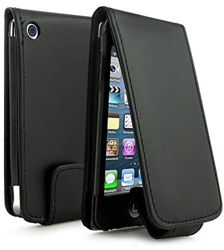 - Bastex Leather Wallet for Touch 4, 4th Generation iPod - Black Flip Case