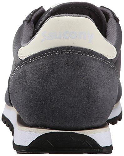 Jazz off Saucony Sneaker Women's White Lowpro Charcoal fqx71TRwx