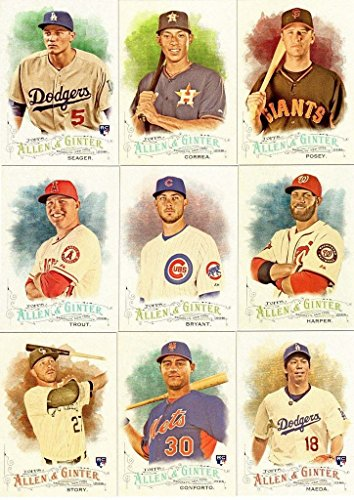 2016 Topps Allen and Ginter MLB Baseball Series Complete Mint 350 Card Set with Rookie Cards, Baseball Stars, Historical Figures and more! from Topps