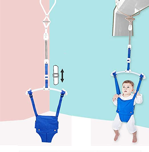 L-MIN Baby Door Jumpers and Bouncers Swing Infants Jump Up Doorway Jumper Kids Entertainment Exerciser Door Frame Clamp