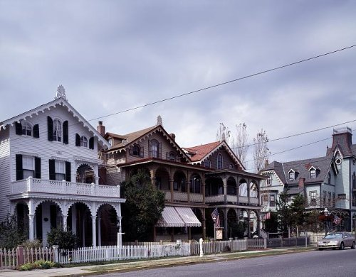 Photo: Victorian cottages,Cape May,New - Cape May Victorian