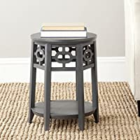 Safavieh American Homes Collection Charcoal Grey Adela Side Table