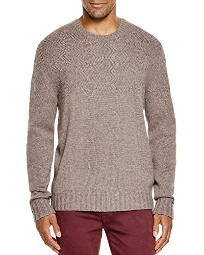 Bloomingdales Cashmere - Bloomingdale's Mens 2-Ply Cashmere Diamond Pattern Sweater Large L Toasted Almond