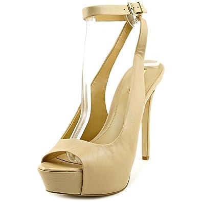 49edd859fe51 BCBGeneration Solo Women US 9.5 Nude Peep Toe Platform Heel