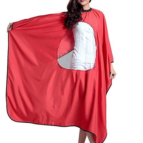 hair-salon-cape-waterproof-barber-bibs-hair-cutting-apron-red