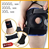 Knee Brace Support and Compression Sleeve by Motion Infiniti with Double Hinged Locking Mechanism for ACL, Meniscus Tear, Arthritis, and Athletes.The True Plus Size 2XL,3XL,4XL.. offers