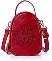APHISON Crossbody for Women Girls Shoulder Purse Classic Sunflower Hollow PU Leather Dating Bags with Tassels