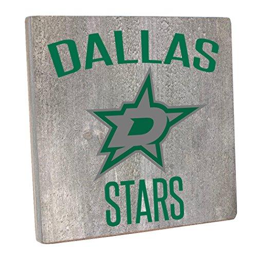 (Rustic Marlin Designs NHL Dallas Stars,Gray, Vintage Square, 12