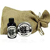 Pre-Shave Oil & Post -Shave Balm Combo by Mountaineer Brand: Eucalyptus Scent-Soften before and Soothe after shaving (Eucaluptus)