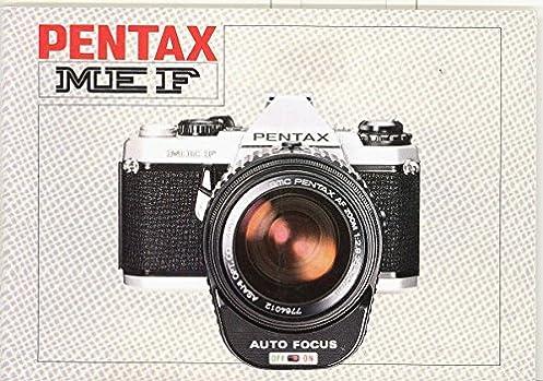 pentax me f original instruction manual pentax amazon com books rh amazon com Film Camera Single-Lens Reflex Camera