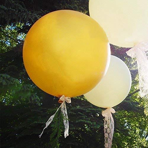 Feste di Natale Decorazioni Extra Grandi e Spessi riutilizzabili per Palloncini giganti in Lattice Palloncini per Matrimonio Arancione GuassLee Palloncini tondi Grandi Palloncini 91,4 cm