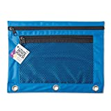 Charles Leonard CHL76350STBN 2-Pocket Pencil Pouch-Asst Colors, MultiPk 12 Each