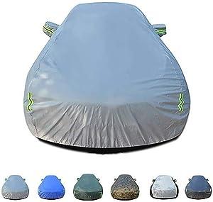 WANGJUNXIU Compatible with Citroen C4 Cactus Car Cover Breathable Waterproof Outdoor Windproof Dustproof UV Protection Sedan Car Cover