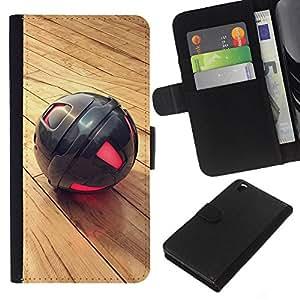 Metal Sphere - la tarjeta de Crédito Slots PU Funda de cuero Monedero caso cubierta de piel HTC DESIRE 816