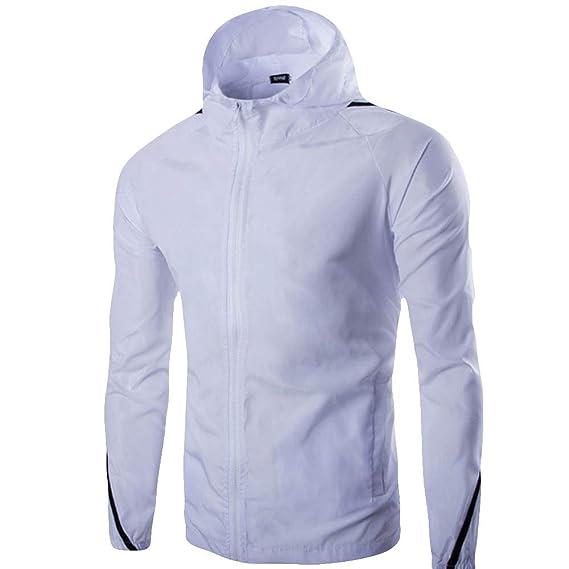 Chaqueta Deportiva de suéter Casual para Hombre, Color sólido, Manga Larga, suéter Superior: Amazon.es: Ropa y accesorios