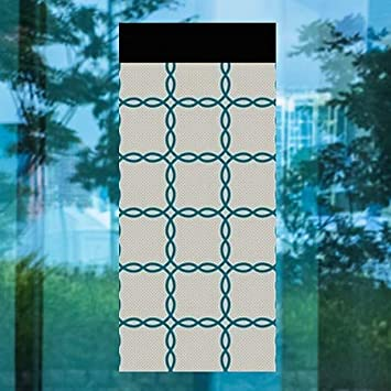 Inner CircleBraided Plaid Perforated Window Decal CGSignLab 36x80