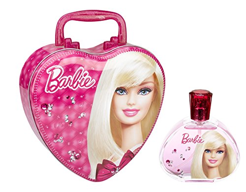 Barbie Eau De Toilette Spray for Girls with Metal Lunch B...